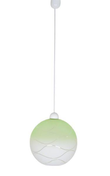 Wave grün Pendelleuchte aus Glas