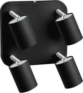 Deckenleuchte aus Metall 4er EYE SPOT schwarz GU10
