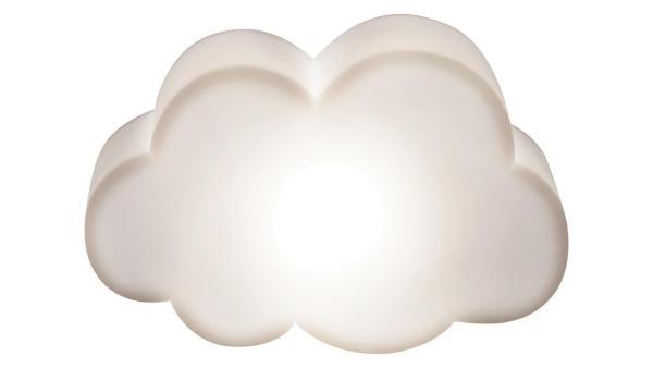 LED Kinderzimmerlampe Wolkenförmige Deko-Lampe, weiß, mit eingebauter LED 0,18W, 3000K, mit Schalter