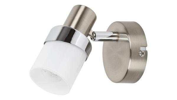 Deckenleuchte chrom matt/chrom/Opalglas Metall Glas E14 1X MAX 40W IP20