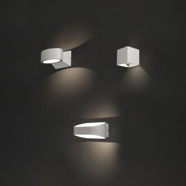HANOI Außenwandleuchte modern Aluminium/Kunststoff weiß Außenlampe Wandlampe LED-Board 6W