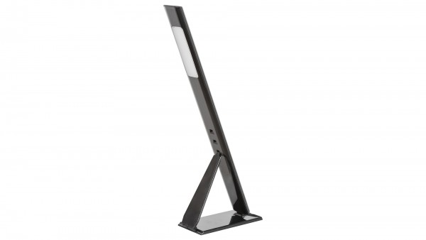 LED Schreibtischlampe, schwarz, eingebaute LED 5W 400lm 4000K, höhenverstellbar, Kabelschalter