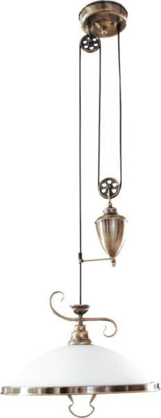 Pendelleuchte aus Glas bronze 1 flammig E27 Elisett