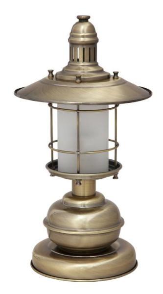 Tischlampe Glas bronze E27 Sudan