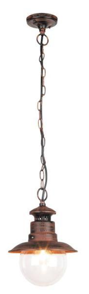 Odessa Außendeckenleuchte klassisch Metall/Kunststoff antikbraun Außenleuchte Deckenlampe Außenlampe