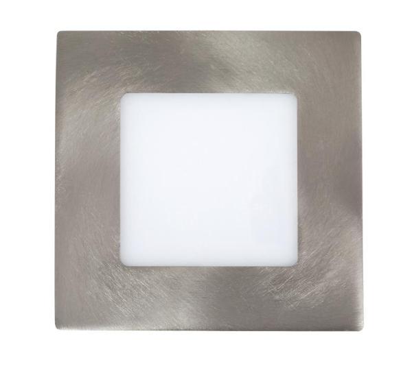 LED Einbauleuchte LOIS in chrom warmweiß quadratisch 85mm