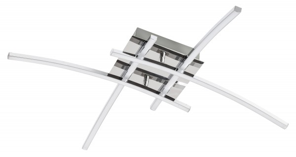 LED Deckenleuchte 4 x 6W Alexis chrom modern