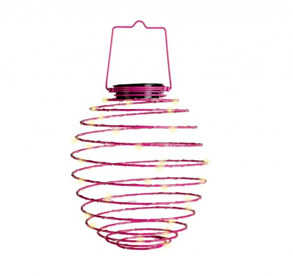 LED Solar-Spirale pink