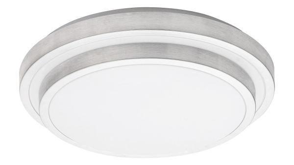 LED Deckenleuchte gebürstetes Aluminium/weiss LED-Board 24W A+ 3000K 1290lm IP20