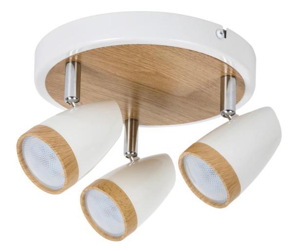 LED Spot weiß 8W Karen Metall/Kunststoff 3000K warmweiß 3x280lm