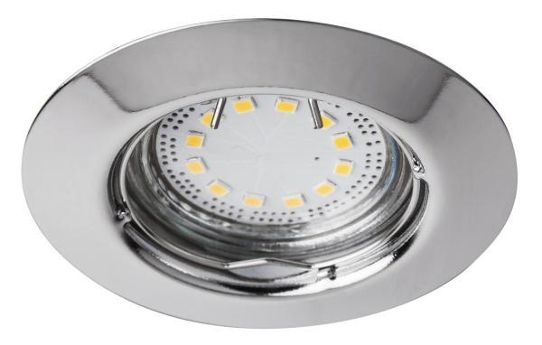 LED Einbaustrahler Set warmweiß GU10 chrom