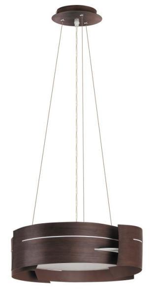 Pendelleuchte aus Glas 3 flammig braun E27 modern