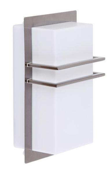 Seattle Außenwandleuchte modern Metall/Kunststoff edelstahl Außenlampe Wandlampe E27 11W