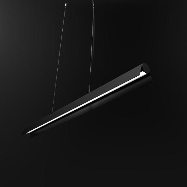 A LED Pendelleuchte Schwarz 36W 3000K 2700lm