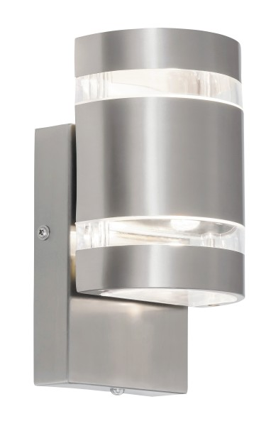 Cambridge Außenwandleuchte modern Metall/Glas edelstahl Außenlampe Wandlampe festverbautes Leuchtmit