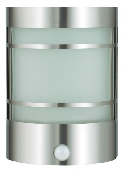 Außenwandleuchte Edelstahl/Glas silber