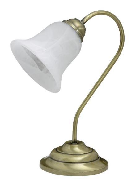 Tischlampe Glas antik bronze E14 Francesca