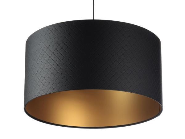Pendelleuchte Leoni S in schwarz/gold