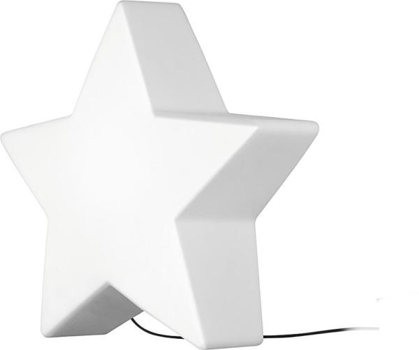 STAR Garten-Dekoleuchte modern Polyethylen weiß Dekolampe Außenlampe Gartenlampe E27 60W