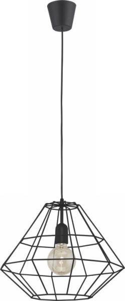 Pendelleuchte DAIMOND BLACK schwarz Metall/Kunststoff Ø410mm
