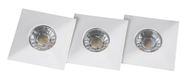 Randy Einbauleuchte modern Metall/Glas weiß Einbaustrahler Spot Deckenstrahler LED-Board 4W