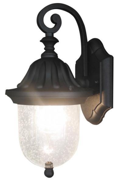 Sydney Außenwandleuchte klassisch Metall/Glas schwarz Außenlampe Wandlampe E27 60W
