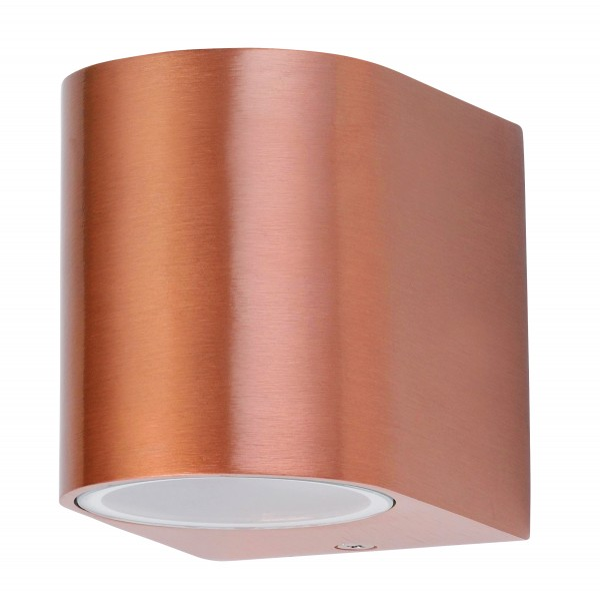 Chile Außenwandleuchte klassisch Metall/Glas kupfer Außenlampe Wandlampe GU10 35W