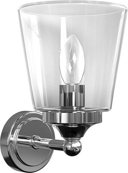 Wandleuchte modern chrom/klar aus Glas