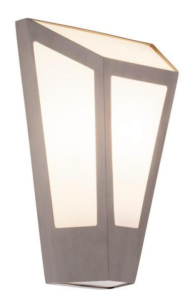 York Außenwandleuchte modern Edelstahl/Kunststoff edelstahl Außenlampe Wandlampe E27 40W