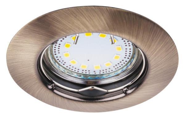 LED Einbaustrahler Set warmweiß GU10 bronze