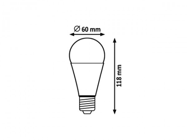 LED Leuchtmittel E27 A60 10W, 2700K mit Microwave-und Dämmerungssensor