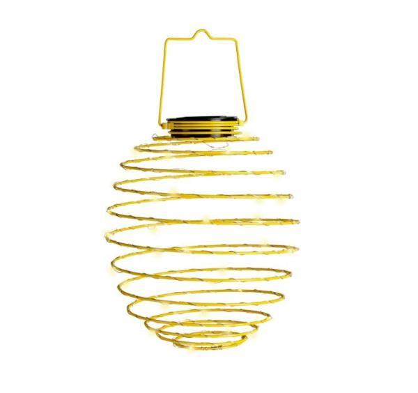 LED Solar-Spirale gelb