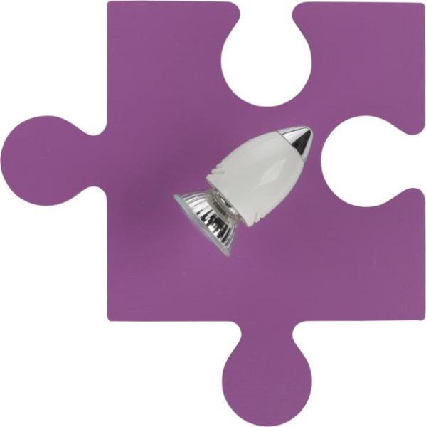 Kinderzimmerlampe Mädchen violett PUZZLE GU10