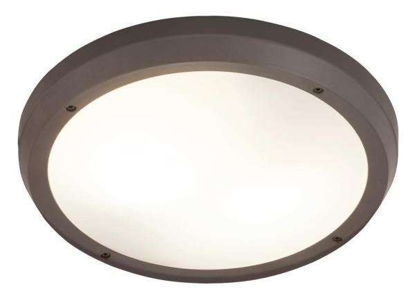 Alvorada Außendeckenleuchte modern Kunststoff anthrazit grau Außenleuchte Deckenlampe Außenlampe E27