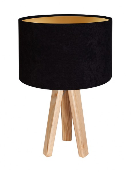 Tischleuchte Leoni in schwarz/gold