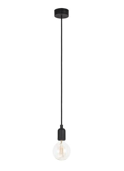 Pendelleuchte schwarz aus Metall SILICONE E27
