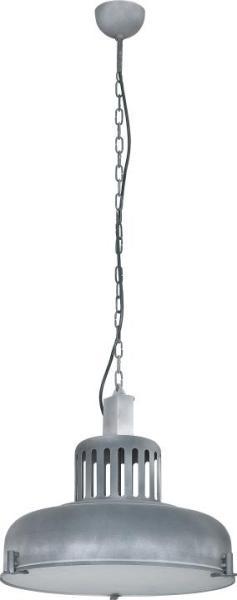 INDUSTRIAL Pendelleuchte Industriedesign Metall/Glas grau Hängelampe Pendellampe Deckenlampe E27 60W