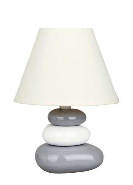 Tischlampe modern weiß/grau Keramik E14 Salem