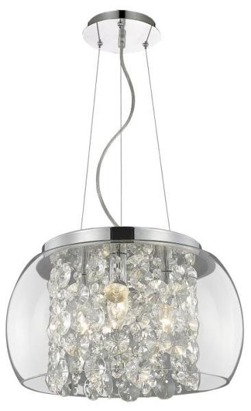 Pendelleuchte aus Glas 3 flammig chrom E14 modern