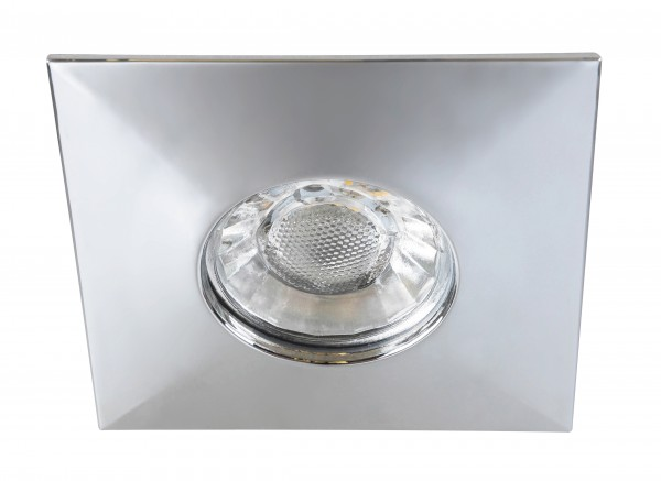 LED Einbaustrahler chrom warmweiß eckig 4W