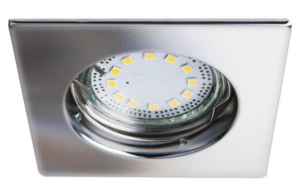 LED Einbaustrahler Set warmweiß GU10 eckig chrom