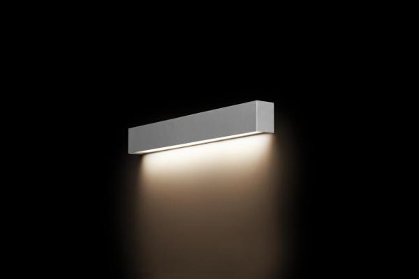LED Wandleuchte silber 10W 3000K 900lm