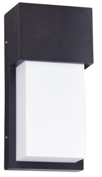 Leeds Außenwandleuchte modern Metall/Kunststoff matt schwarz/weiß Außenlampe Wandlampe E27 15W