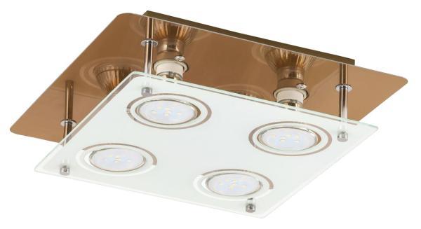 LED Deckenleuchte 5W 4 flammig bronze warmweiß