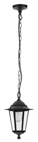 Velence Außendeckenleuchte klassisch Metall/Glas schwarz Außenleuchte Deckenlampe Außenlampe E27 60W