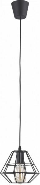 Pendelleuchte DAIMOND BLACK schwarz Metall/Kunststoff Ø200mm