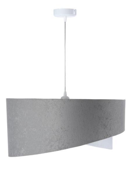 Pendelleuchte Susanne M in grau/weiß/silber