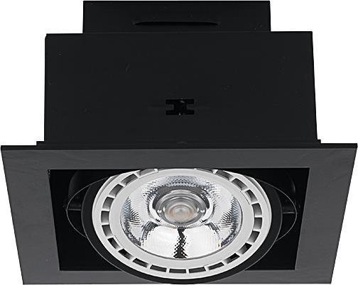 DOWNLIGHT Einbauleuchte modern Metall schwarz Einbaustrahler Spot Deckenstrahler GU10/ES111 75W