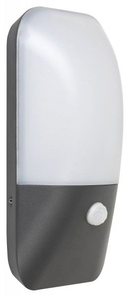 LED Außenwandleuchte mit Sensor Ecuador 11W 800lm 4000K IP54