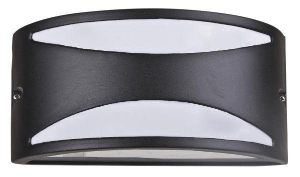 Manhattan Außenwandleuchte modern Metall/Kunststoff matt schwarz Außenlampe Wandlampe E27 60W